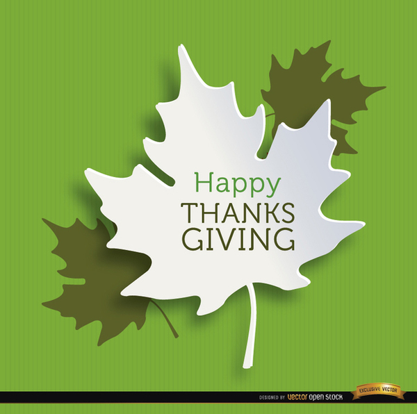Happy Thanksgiving Leaves Background Free Vector