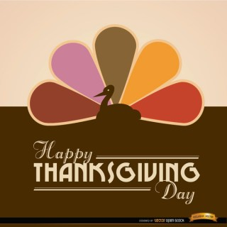 Happy Thanksgiving Turkey Colored Tail Background Free Vector