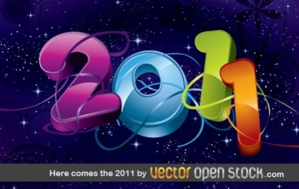 Here Comes The 2011 Free Vector