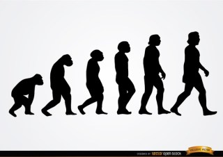 Human Evolution Silhouettes Free Vector