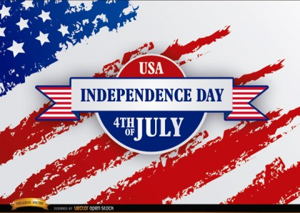 Independence Day Ribbon Grunge Usa Flag Free Vector
