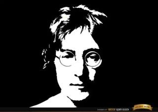 John Lennon Face Portrait Background Free Vector