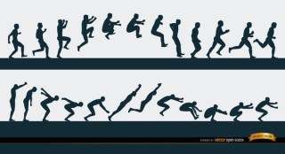 Jumping Man Sport Sequence Free Vector