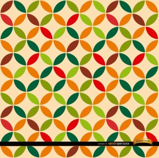 Leaf Circles Pattern Background Free Vector