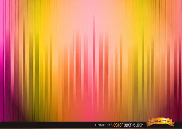 Lighted Warm Color Stripes Background Free Vector