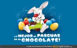 Lo Mejor De Las Pascuas Es El Chocolate Free Vector