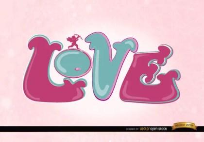 Love Cupid Pink Wallpaper Free Vector