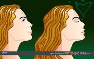 Lovely Girl Side View Free Vector