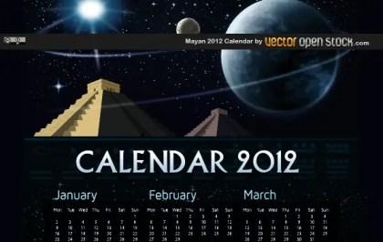 Mayan 2012 Calendar Free Vector