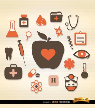 Medical Health Icons Pack Free Vector