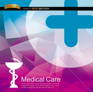 Medical Polygon Background Free Vector