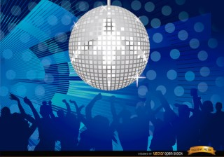 Mirror Ball Disco Night Party Background Free Vector