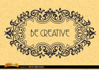 Motivational Frame – Be Creative Free Vector