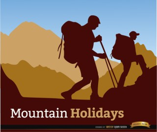 Mountaineering Holidays Background Free Vector