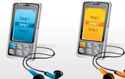 Music Phones Free Vector