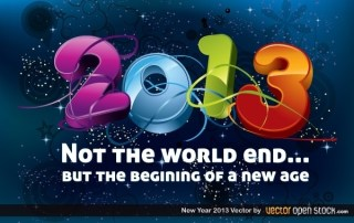 New Year 2013 Free Vector