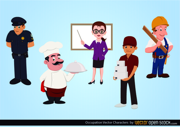 Occupation Vector Characters Free Vector