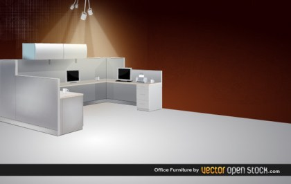 Office Furniture Free Vector