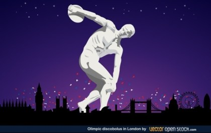 Olympic Discobolus In London 2012 Free Vector