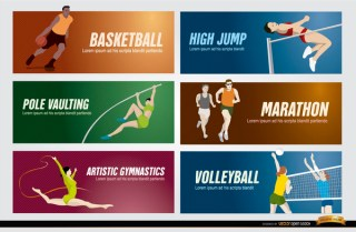 Olympic Sports Banners Free Vector
