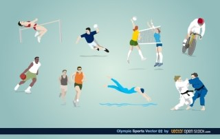 Olympic Sports Vector Free Vector