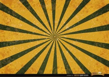 Orange Green Radial Stripes Grunge Background Free Vector