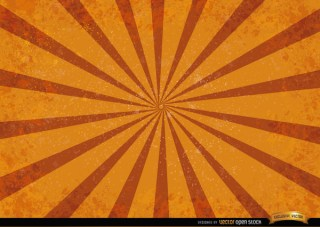 Orange Red Radial Stripes Grunge Background Free Vector