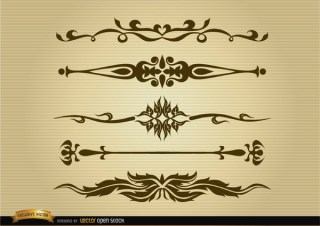 Ornamental Dividers Set Free Vector