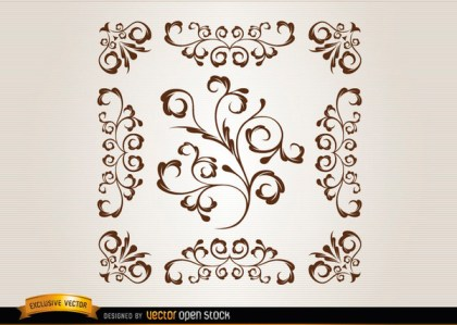 Ornamental Swirls Free Vector