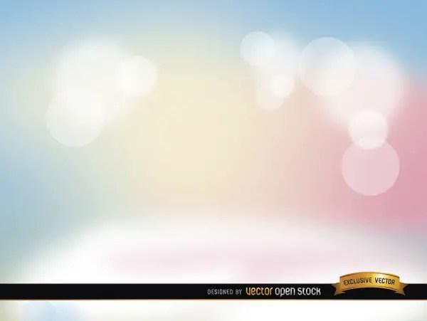 Pastel Spotlights Background Free Vector