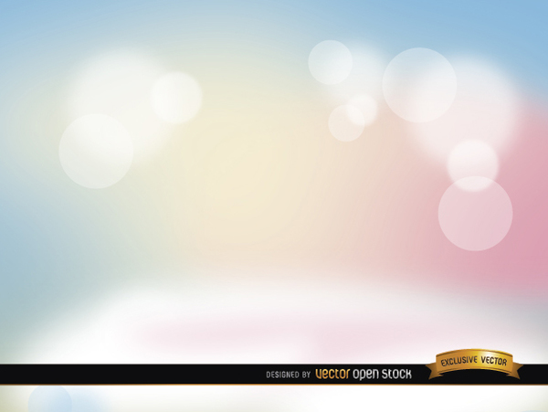 Pastel Spotlights Background Free Vector
