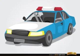 Police Car Cartoon Style Free Vector