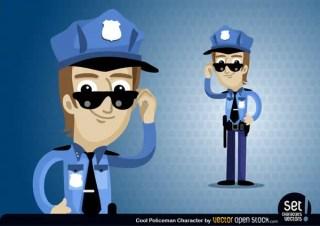 Policeman Cartoon Character Free Vector