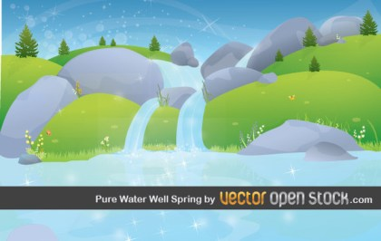 Pure Water Well Spring Free Vector