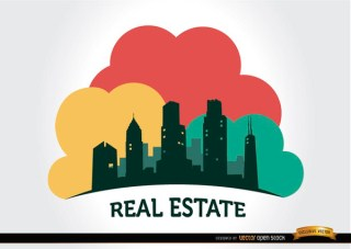 Real Estate Buildings Company Logo Free Vector
