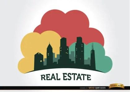 Real Estate Buildings Company Logo Free Vector