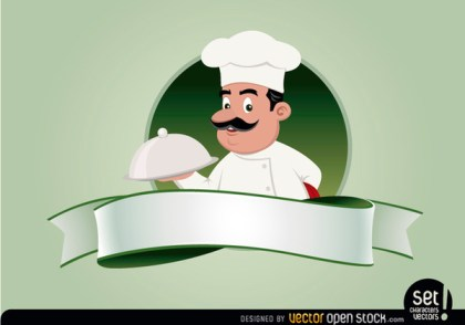 Restaurant Emblem with Chef Free Vector