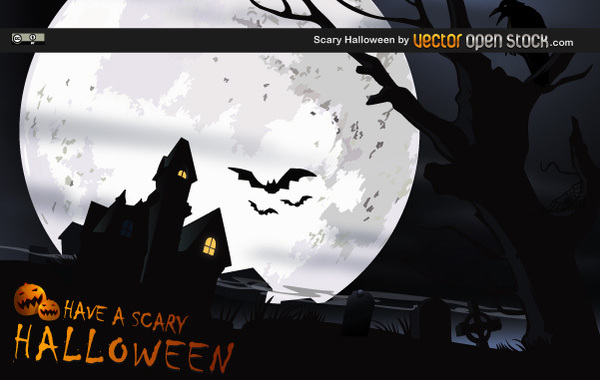 Scary Halloween Free Vector