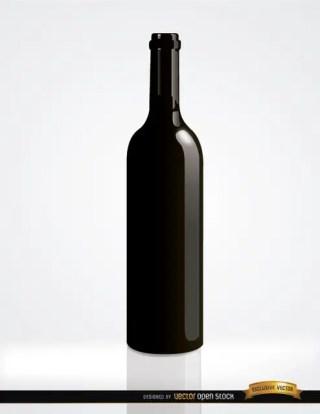 Simple Wine Bottle Free Vector