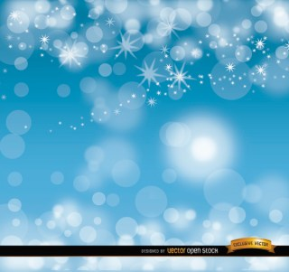 Sky Blue Glitters Background Free Vector