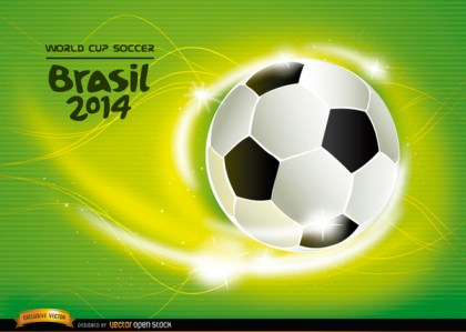 Soccer World Cup 2014 Background Free Vector