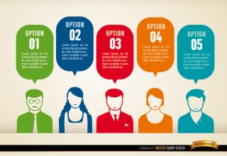 Social Clouds Infographic People Group Opinions Free Vector