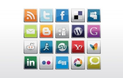 Social Icons Pack Free Vector