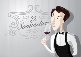Sommelier Cartoon Character Free Vector