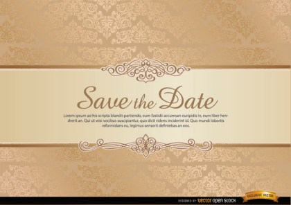 Special Invitation Card with Floral Ornaments Free Vector