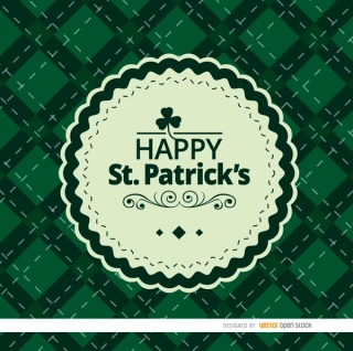 St. Patricks Rhombs Background with Seal Free Vector