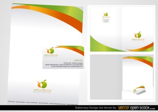 Stationery Design Set Free Vector