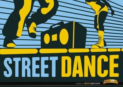 Street Hip-Hop Dance Wallpaper Free Vector