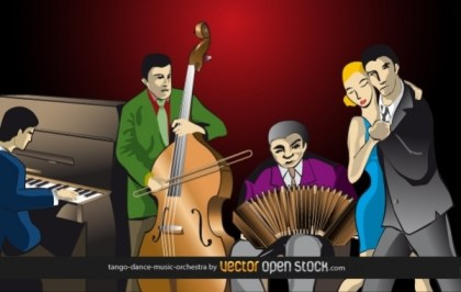 Tango-Dance-Music-Orchestra Free Vector