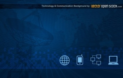 Technology and Communication Background Free Vector